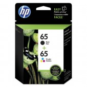 T0A36AN - Genuine HP brand Black + Tri-Color Combo Pack (No. 65) InkJet Cartridges