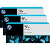 B6Y43A - Genuine HP brand Light Magenta (No. 771A) DesignJet Ink Cartridge - 3 Pack