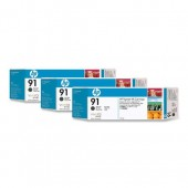 C9480A - Genuine HP brand Matte Black (No. 91) 3-Ink Multipack
